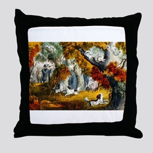 Squirrel shooting - 1907 Throw Pillow