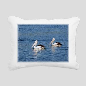 Australian Pelicans Rectangular Canvas Pillow