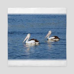 Australian Pelicans Queen Duvet