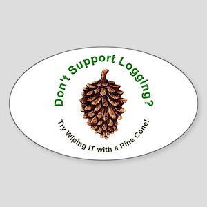 Anti Environmentalist Conservative Oval Sticker