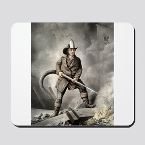 The American fireman - facing the enemy - 1858 Mou