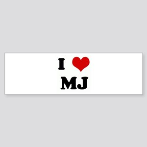 I Love MJ Bumper Sticker