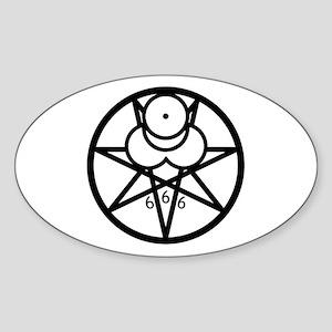 Mark of the Beast Sticker b/w (Oval)