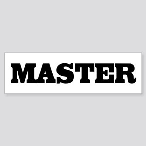 Master Bumper Sticker