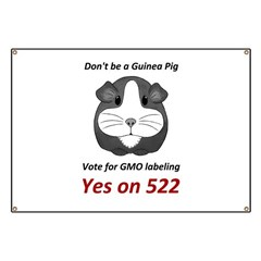 Yes on 522 Vote for GMO labeling Banner