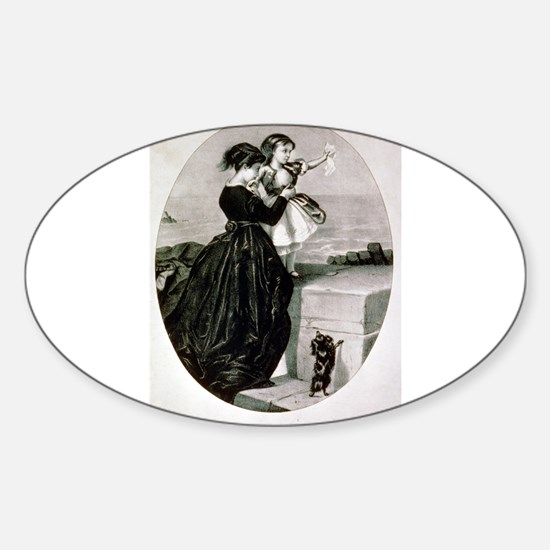 The farewell - 1856 Sticker (Oval)
