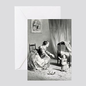 The first step - Come to mama - 1859 Greeting Card