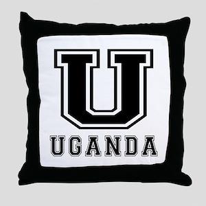 Uganda Designs Throw Pillow