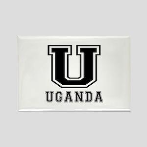 Uganda Designs Rectangle Magnet