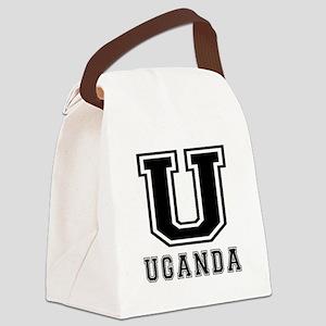 Uganda Designs Canvas Lunch Bag