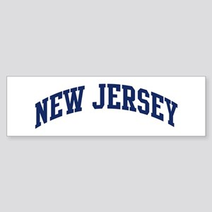 Blue Classic New Jersey Bumper Sticker