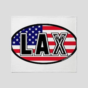 Lacrosse America Throw Blanket