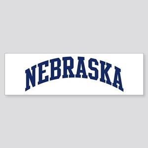 Blue Classic Nebraska Bumper Sticker