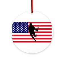 Lacrosse_IRock_America Ornament (Round)