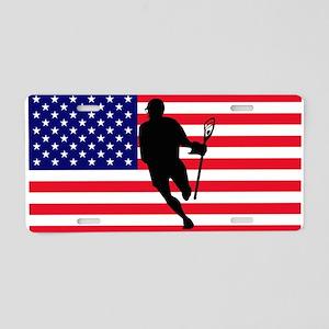 Lacrosse_IRock_America Aluminum License Plate