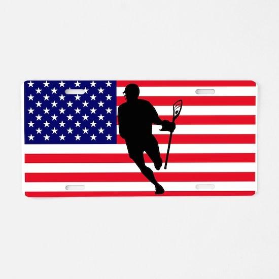 Lacrosse_IRock_America.psd Aluminum License Plate