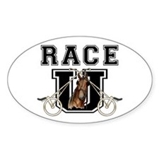 Race U Oval Sticker