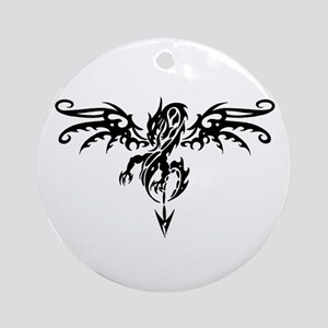 Tribal Dragon Tattoo Ornament (Round)