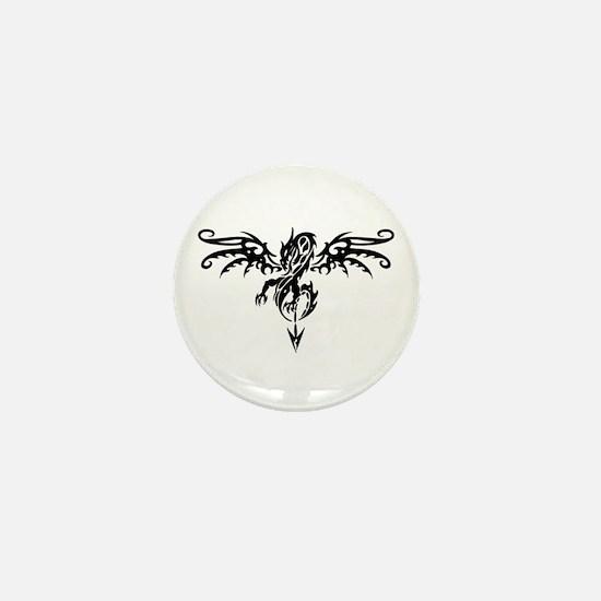 Tribal Dragon Tattoo Mini Button