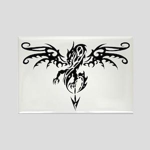 Tribal Dragon Tattoo Rectangle Magnet