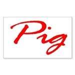 Pig Rectangle Sticker
