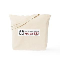 Yes on 522 GMO Bumper Sticker Tote Bag