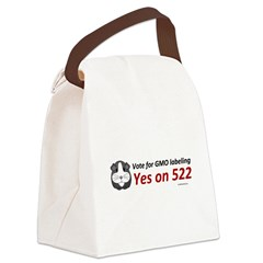 Yes on 522 GMO Bumper Sticker Canvas Lunch Bag