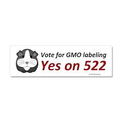 Yes on 522 GMO Bumper Sticker Car Magnet 10 x 3
