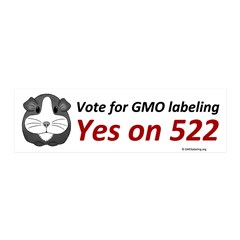 Yes on 522 GMO Bumper Sticker Wall Decal