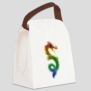 Rainbow Dragon Canvas Lunch Bag