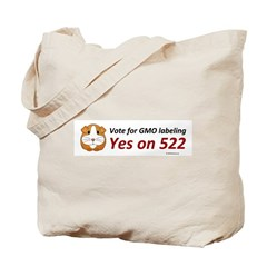 Yes on 522 GMO labeling Bumper Sticker Tote Bag