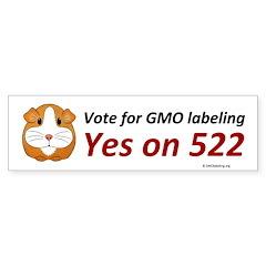 Yes on 522 GMO labeling Bumper Sticker Bumper Stic