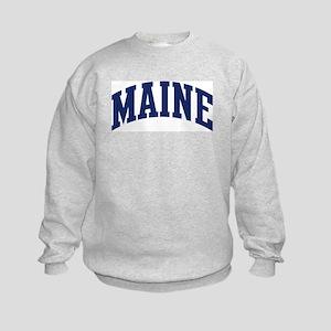 Blue Classic Maine Kids Sweatshirt