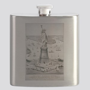 The great Bartholdi statue, Liberty enlightening t