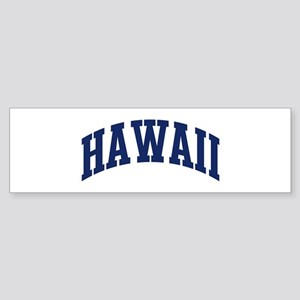 Blue Classic Hawaii Bumper Sticker