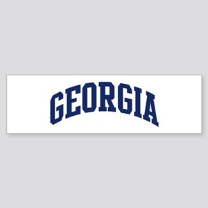 Blue Classic Georgia Bumper Sticker