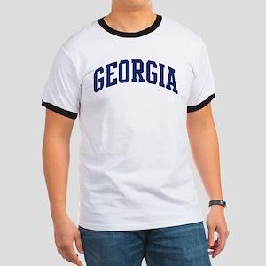 Blue Classic Georgia Ringer T