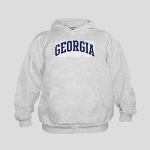 Blue Classic Georgia Kids Hoodie