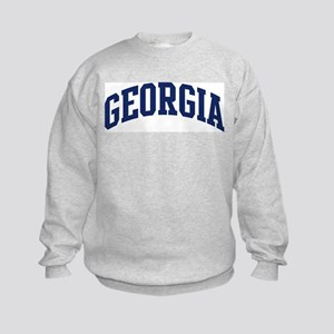 Blue Classic Georgia Kids Sweatshirt