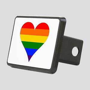 rainbow heart Hitch Cover