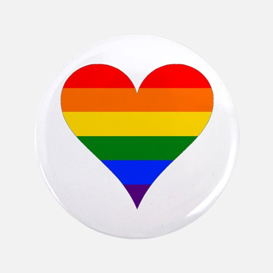 "rainbow heart 3.5"" Button"