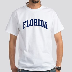 Blue Classic Florida White T-Shirt