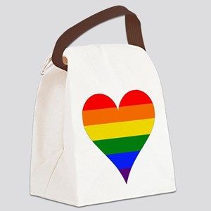 rainbow heart Canvas Lunch Bag