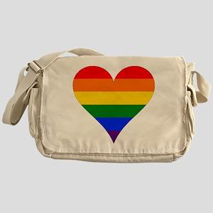 rainbow heart Messenger Bag