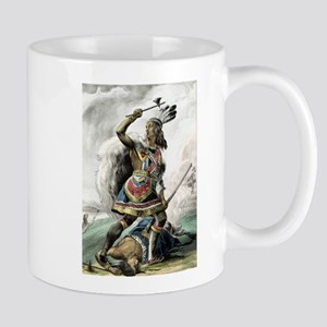 The Indian warrior - 1845 11 oz Ceramic Mug