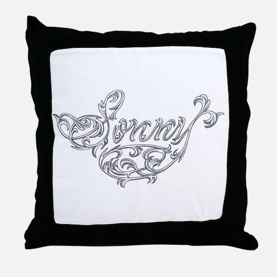 Sonny Vine Name Design Throw Pillow