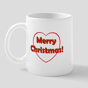 Merry Christmas Heart Mug