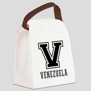 Venezuela Designs Canvas Lunch Bag