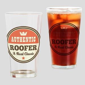 Roofer Vintage Drinking Glass