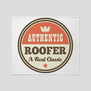 Roofer Vintage Throw Blanket